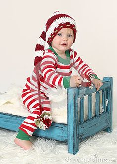 Baby Christmas outfit Elf Hat