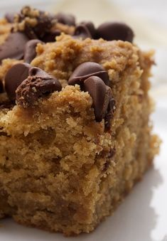 Peanut Butter Chocolate Chip Cake is a wonderfully simple cake just made for snacking!