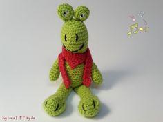 Frosch Franzi. Häkelanleitung von creaTIFFIty.de #Häkeln #Häkelanleitung #DIY #creaTIFFIty #Makerist #MyBoshi