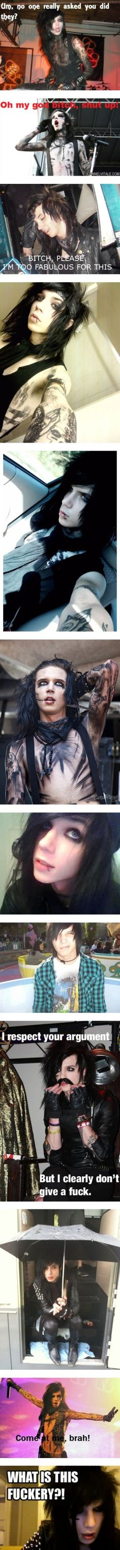 """Andy biersack everyone"" by sbtbb ❤ liked on Polyvore"