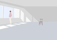 Taku Bannai es un diseñador gráfico e ilustrador japonés. Su obra se enfoca a la ilustración editorial y la técnica que usa es el collage, con un estilo minimalista y grandes masas de colores pastel.
