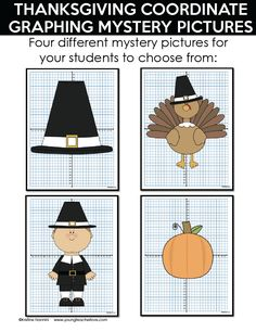 Thanksgiving Coordinate Graphing Mystery Pictures by Kristine Nannini Math For 5th Graders, 3rd Grade Classroom, Middle School Classroom, High School, Reading Binder, Early Math, Thanksgiving Activities, Math Lessons, Math Activities