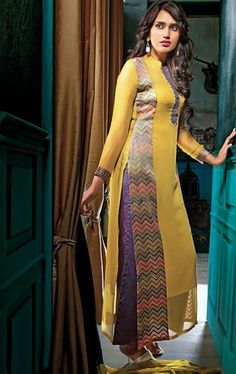 Marvelous Yellow Color Party Wear #Salwar Kameez