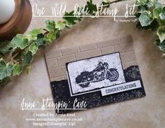 Anna' Stampin' Cave - Stampin' Up! One Wild Ride - masculine congratulations card for GDP078