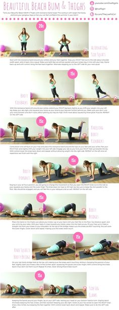 Today we are working your #BeautifulBeachBUM! This workout uses one of my favorite pieces of equipment…Resistance Band Loops! These little bands make for a killer booty workout! I have loved these…MoreMore #resistancebands