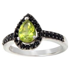 Sterling Silver Peridot and Spinel Aura Ring