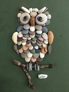 Owl rock art