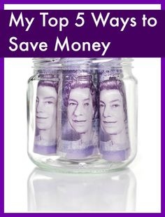 My top 5 ways to save money #thrifty #frugal #moneysaving