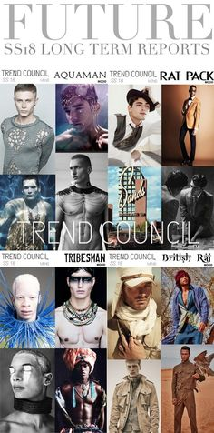 TRENDS // TREND COUNCIL - WOMENS AND MENS . SS 2018
