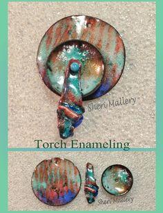 by Sheri Mallery,    Torch fired enamel on copper