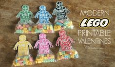 Modern Lego Printable Valentines - Simply Real Moms