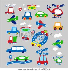 set of different vehicles.vector illustration
