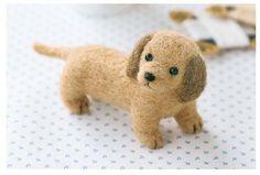 Miniature dachshund - Needle Felting Dog Making Kit Wool Animal Dog Patterns