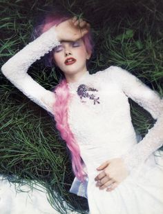 """stopdropandvogue: """" """"At This Time"""" for Vogue Italia September 1997 photographed by Ellen Von Unwerth """""""