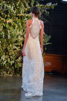 Claire Pettibone Gothic Angel Runway Show The Celestine Gown Little White Dress Bridal