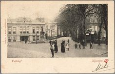 Valkhof met Sociëteit Burgerlust. Later Verenigingsgebouw Unitas, nog later foetsie. Foto zal wel rond 1900 genomen zijn