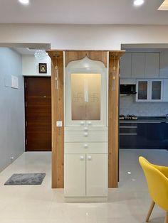 Pooja Room Door Design, Home Room Design, Design Your Home, Bed Design, House Design, Patio Design, Hall Interior, Interior Work, Interior Design Kitchen