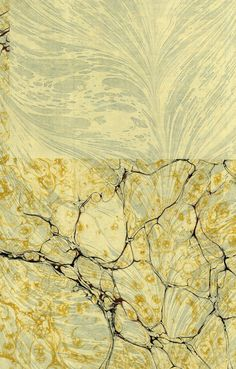 Modern 20th c. marbled paper, Italian on Turkish combed, Double marble by Don Guyot