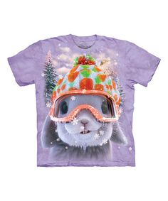 Loving this Purple Snow Bunny Tee - Kids on #zulily! #zulilyfinds