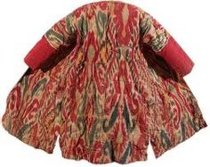 stunning traditional Uzbek ikat coat in wool
