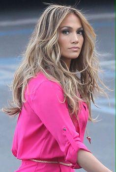 Jennifer Lopez, hair.