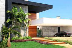 Fachada contemporânea - casa condomínio