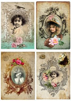 Vintage Girl Postcards