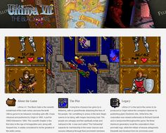 To mark the 20th anniversary of the release of Ultima 7, the Ultima Codex has put together a tribute site for the game.    NEWS: http://ultimacodex.com/2012/04/ultima-7s-20th-anniversary/    SITE: http://ultima7.ultimacodex.com/