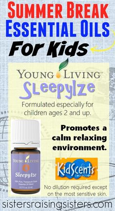 Young Livng Essential Oils SleepyIze oil blend is part of the KidScents Collection made especially for children. It promotes a calm relaxing environment.