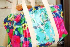 DIY Ruffled Duffel Bag