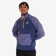 Mens Nike Polar Fleece 1/2 Zip Jacket BV3596-410 Polar Fleece, White Nikes, Nike Men, The North Face, Blue And White, Coats, Zip, Jackets, Fashion