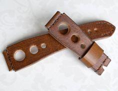 Heavy leather orange  light brown brown by VladislavKostetskyi