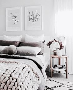 I had a bit of a spring clean in the guest bedroom today. I changed the linen, cleaned the wardrobe (storage cupboard haha) and bagged up a… White Bedroom, Dream Bedroom, Taupe Bedroom, Pretty Bedroom, Modern Bedroom, Master Bedroom, Bedroom Inspo, Bedroom Decor, Bedroom Art Above Bed