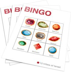 12 Tribes of Israel Bingo Childrens Ministry Deals, Youth Ministry, Kids Church Games, Sabbath School Lesson, David Bible, Printable Bingo Games, Sunday School Games, 12 Tribes Of Israel, Bible Games