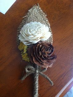 Just a girl and a guy making plans: Rustic DIY Burlap Wedding Boutonnière