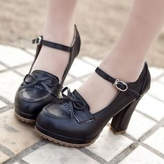 LIN KING Beige Black Brown Princess Lolita bowtie cute sweet Japanese shoes cosplay maid Anim shoes student girls women shoes