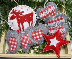 Filcowe ozdoby choinkowe - Felt Christmas decorations