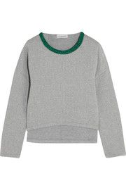 Vika GazinskayaCropped quilted stretch-cotton sweatshirt