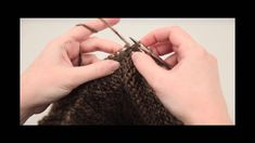 http://www.YARN.com -- This is a great technique for joining a side edge to your live stitches.