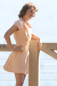 Kristen Stewart filming in Santa Monica for Woody Allen's untitled movie