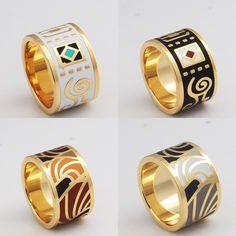 Купить товар Горячая распродажа 18 К позолоченные эмаль кольцо женщины    мужчины ювелирные изделия в винтажном 7fbef897c0a