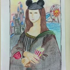 Personalized Mona Lisa, grade 6 Art project