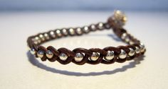 Bracelet - Sterling silver and leather