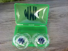 Set of 2 Monogrammed Pacifiers by TooCutePersonalized on Etsy, $9.00