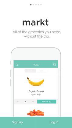 Mobile grocery delivery Markt-splash-screen #walkthrough