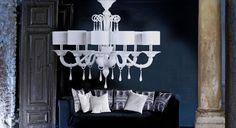 Priuli White  #yourmurano #muranoglass #chandeliers