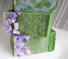 Lavender Lime Natural Soap - pinned for the appearance... another one I'd like to re-create!