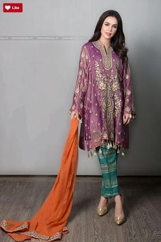 Maria B Suit Purple SF-1585 Evening Wear 2017 Price in Pakistan famous brand online shopping, luxury embroidered suit now in buy online & shipping wide nation..