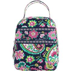 Vera Bradley Lunch Bunch Bag in Petal Paisley ($24) ❤ liked on Polyvore featuring home, kitchen & dining, food storage containers, bags, accessories, lunch bags, petal paisley, brown lunch bags, vera bradley bags and lunch thermos