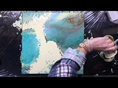 ( 579 ) 40 cm x 40 cm pour-swipe-ribbons with Resi -tint - YouTube